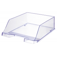 Tava documente HAN XXL - transparent cristal cu margini albastre