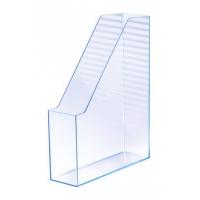 Suport vertical plastic pentru cataloage HAN iLine - transparent cristal cu margini albastre