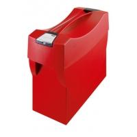 Suport plastic pentru 10 dosare suspendabile, cu capac, HAN Swing - rosu