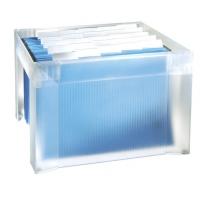 Suport plastic pentru 35 dosare suspendabile, HAN Karat Pur - transparent mat