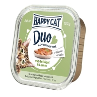 Happy Cat Duo Menu, cu Pui si Miel, 100 g