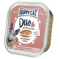 Happy Cat Duo Menu, cu Pui si Vita, 100 g