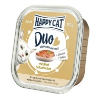 Happy Cat Duo Menu, cu Vita si Iepure, 100 g