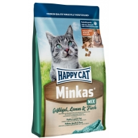 Happy Cat Minkas Adult, cu Mix de Carne, 4 kg