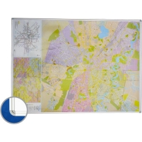Harta Bucuresti (rutiera),140 x 100 cm, profil magnetic