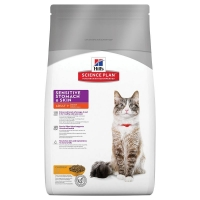 Hill's SP Feline Adult Sensitive Stomach & Skin, 1.5 kg