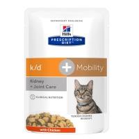 Pachet 12x85 g Hill's PD Feline k/d Afectiuni Renale + Mobility