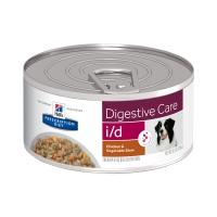 HILL'S Prescription Diet I/D, Pui cu Legume, conservă hrană umedă câini, sensibilități digestive, 156g