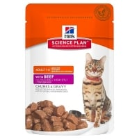 Hill's SP Feline Adult Bucatele de Carne in Sos cu Vita, Plic, 85 g