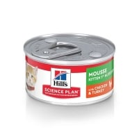 Hill's SP Feline Kitten Mousse Pui, si Curcan, 82 g