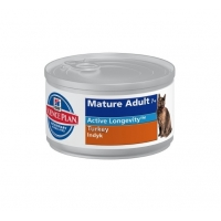 Hill's SP Feline Mature Adult 7+ cu Curcan 156 g