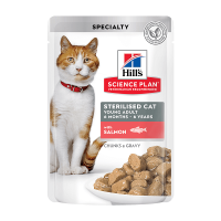 Hill's SP Feline Sterilised Plic Somon, 85 g