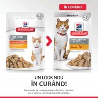 Pachet 5 Plicuri Hill's SP Feline Young Adult Sterilised cu Pui 85 g