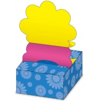 Stick notes 76 x 76 mm, 200 file,  HOPAX Pop-up floare (in cutie)  - galben/mangenta
