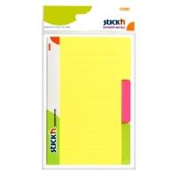 Divider notes autoadeziv cu 3 separatoare, 148 x 98 mm, 60 file, Stick