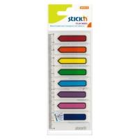 Stick index plastic transparent color 45 x 12 mm, 8 x 15 file/set, Stick