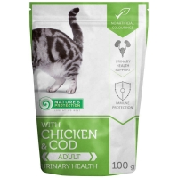 Natures Protection Cat Urinary Health Pui si Cod, Pachet economic 22 x 100 g