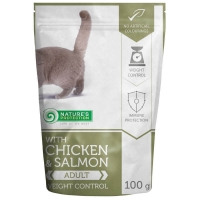 Hrana Umeda Natures Protection Cat Weight Control Pui si Somon, 100 g