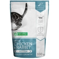 Hrana Umeda Natures Protection Kitten Pui si Iepure, 100 g