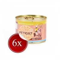 Pachet Petkult Mini Junior cu Rata, 6x185 g