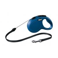 Lesa Retractabila Flexi New Classic Snur M, 5 M, 20 kg, Albastru