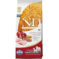 N&D Low Grain Senior Medium & Maxi, Pui si Rodie, 12 kg