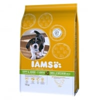 Iams Junior Small & Medium cu Pui, 3 kg