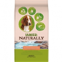 Iams Naturally Adult Dog Somon si Orez, 800 g