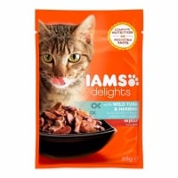 Iams Delights Adult, Ton&Hering, plic 85 g