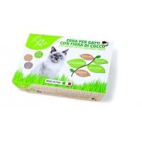 Iarba pentru Pisici cu Fibre de Cocos, Leo Pet, 100 g