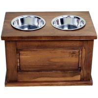 Cutie Depozitare Hrana M cu 2 x Suport Castroane Inox 35*22*20 cm