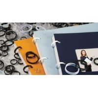 Inele plastic pentru legat, 10 mm, 150buc/cut, OPUS EasyRing - alb