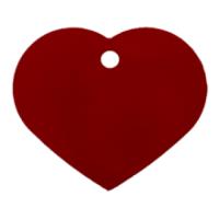 Medalion Tag cu Gravare Gratuita, Inima Rosie L