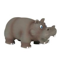 Jucarie Caine Latex Hipopotam 17 cm