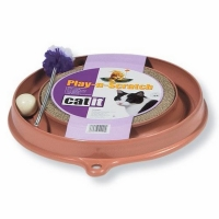 Jucarie Hagen Pisica Play N Scratch 51090, Maro