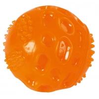 Jucarie pentru Caini, Ball ToyFastic cu Sunet, 6 cm, Portocaliu