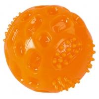 Jucarie pentru Caini, Ball ToyFastic cu Sunet, 7.5 cm, Portocaliu