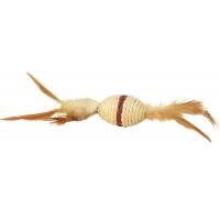 Jucarie pisica minge ovala bej K055, 6 cm