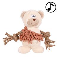 Jucarie Caine Plus Ursulet cu Sfoara 17 cm