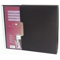 Dosar personalizabil cu 60 folii, A4, coperta rigida, cu caseta, KANGARO - negru