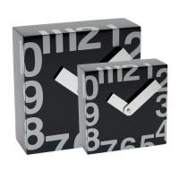 Ceas patrat de perete, 250 x 250 mm, cifre arabe, TIQ - lemn alb
