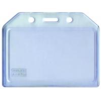 Buzunar PVC flexibil, pentru ID carduri,  85 x  54mm, orizontal, 5 buc/set, KEJEA - transparent