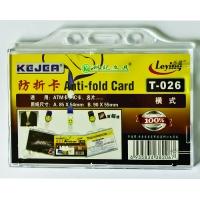 Suport PP, pentru carduri, 85 x 54mm, orizontal cu sistem anti alunecare, 5 buc/set, KEJEA - transp