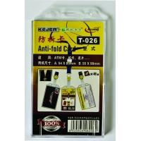 Suport PP, pentru carduri, 54 x 85mm, vertical cu sistem anti alunecare, 5 buc/set, KEJEA - transp