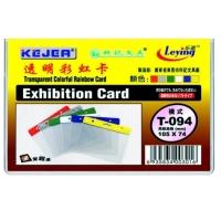 Buzunar PVC, pentru ID carduri, 105 x  74mm, orizontal, 10 buc/set, KEJEA - margine color