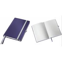 Caiet de birou A5, LEITZ Style, coperti carton rigid - albastru titan, hartie crem - dictando