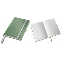 Caiet de birou A5, LEITZ Style, coperti carton rigid - fistic, hartie crem - matematica