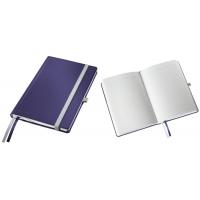 Caiet de birou A5, LEITZ Style, coperti carton rigid - albastru titan, hartie crem - matematica