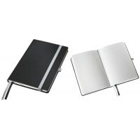 Caiet de birou A5, LEITZ Style, coperti carton rigid - negru satin, hartie crem - matematica