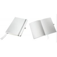 Caiet de birou A5, LEITZ Style, coperti flexibile - alb arctic, hartie crem - dictando